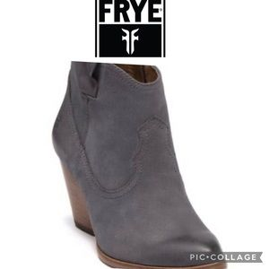 FRYE REINA GRAY LEATHER BOOTS SIZE 9.5